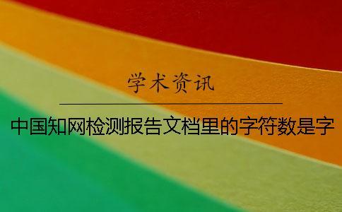 中国知网检测报告文档里的字符数是字符数数还是字符数