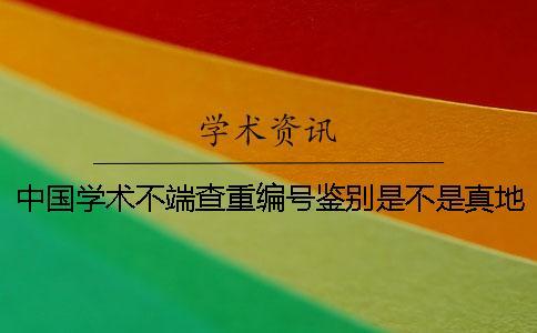 中国学术不端查重编号鉴别是不是真地