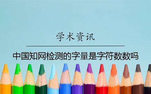 中国知网检测的字量是字符数数吗?